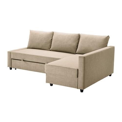 Friheten Corner Sofa Bed With Storage – Skiftebo Beige – Ikea In Ikea Corner Sofas With Storage (Image 3 of 10)