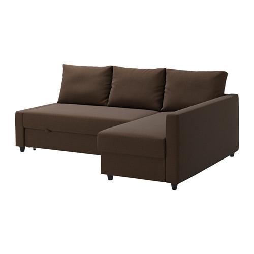 Friheten Corner Sofa Bed With Storage – Skiftebo Brown – Ikea For Ikea Corner Sofas With Storage (Image 4 of 10)