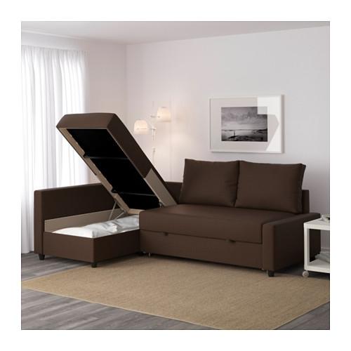 Friheten Corner Sofa Bed With Storage Skiftebo Brown – Ikea In Ikea Corner Sofas With Storage (Image 7 of 10)