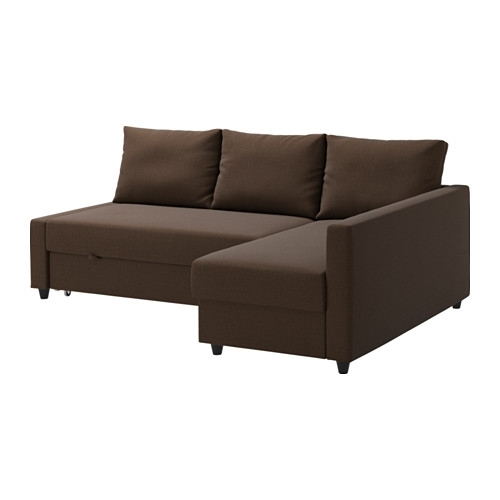 Friheten Corner Sofa Bed With Storage – Skiftebo Brown – Ikea Throughout Ikea Corner Sofas With Storage (Image 3 of 10)