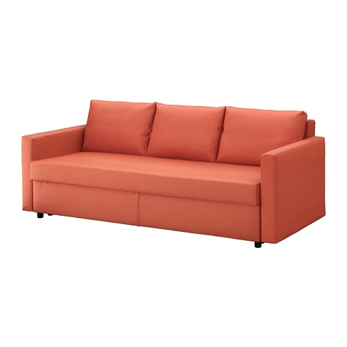 Friheten Sleeper Sofa – Skiftebo Dark Orange – Ikea Within Ikea Loveseat Sleeper Sofas (Image 3 of 10)