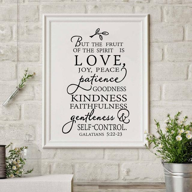 Fruit Of The Spirit Christian Canvas Art Print Poster Wall Picture For Joy Canvas Wall Art (Image 8 of 20)