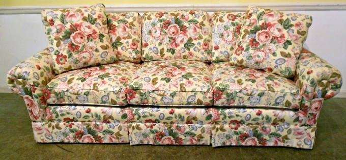 Furniture: Beautiful Flowered Couches For Your Living Room Design Inside Floral Sofas And Chairs (Image 8 of 10)