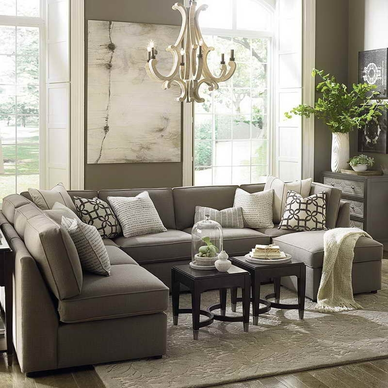 Furniture : Comfy Large Gray U Shaped Sectional Sofa With Within Small U Shaped Sectional Sofas (Image 4 of 10)