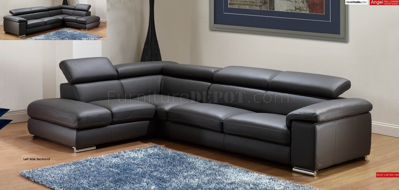 Furniture : Dazzling Home Divani Casa Quebec Modern Dark Grey Eco Throughout Quebec Sectional Sofas (Image 5 of 10)