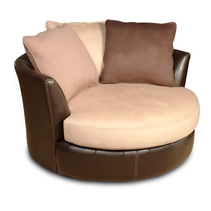 Furniture Easy On The Eye Big Circle Chair Round Swivel – Thestereogram Pertaining To Big Round Sofa Chairs (Image 2 of 10)