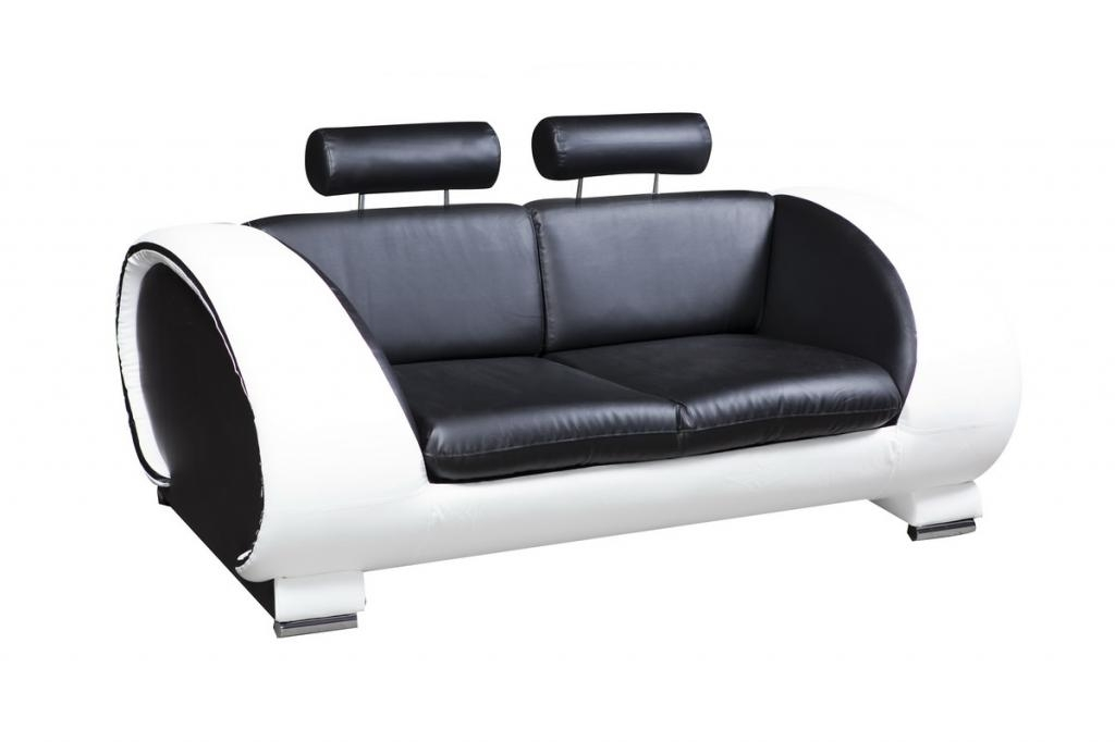 Furniture: Fascinating 2 Seater Black Leather Sofa Ideas Two Seater For Black 2 Seater Sofas (View 7 of 10)