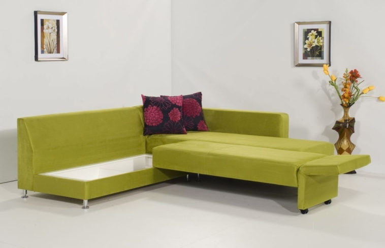 Furniture Green Velvet Convertible Sectional Sleeper Sofa With With With Regard To Nyc Sectional Sofas (View 10 of 10)