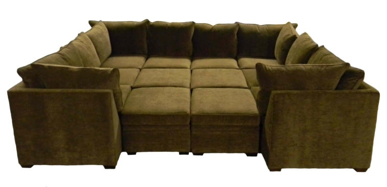 Furniture. Large U Shaped Sectional Couch With Ottoman Incorporate With Regard To Sofas With Large Ottoman (Photo 4 of 10)