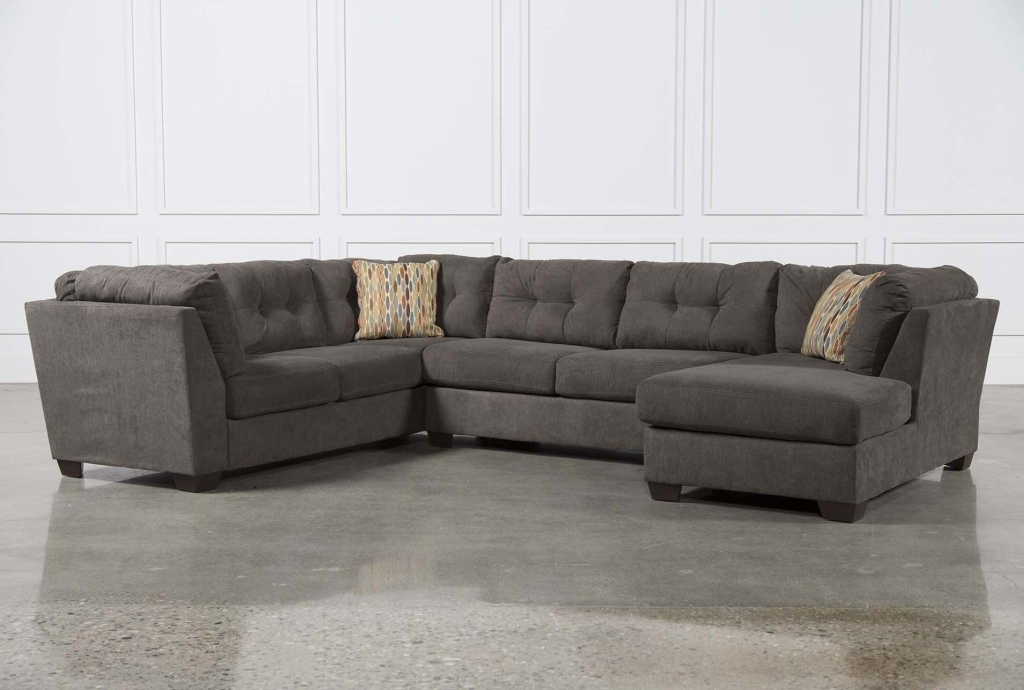 Furniture: Microsuede Sectional Awesome Modern Sectional Sofa Grey With Oshawa Sectional Sofas (Image 8 of 10)