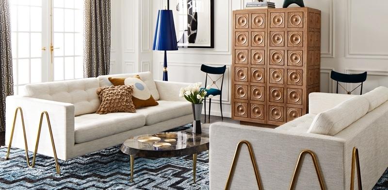 Furniture | Modern Sofas, Tables, Chairs & Cabinets | Jonathan Adler Inside Jonathan Sofas (Image 4 of 10)