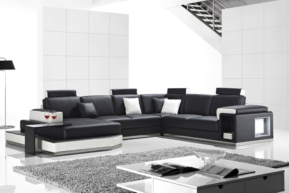 Furniture: Stunning Leather Corner Sofas Cheap Leather Corner Sofas Inside White Leather Corner Sofas (Image 2 of 10)