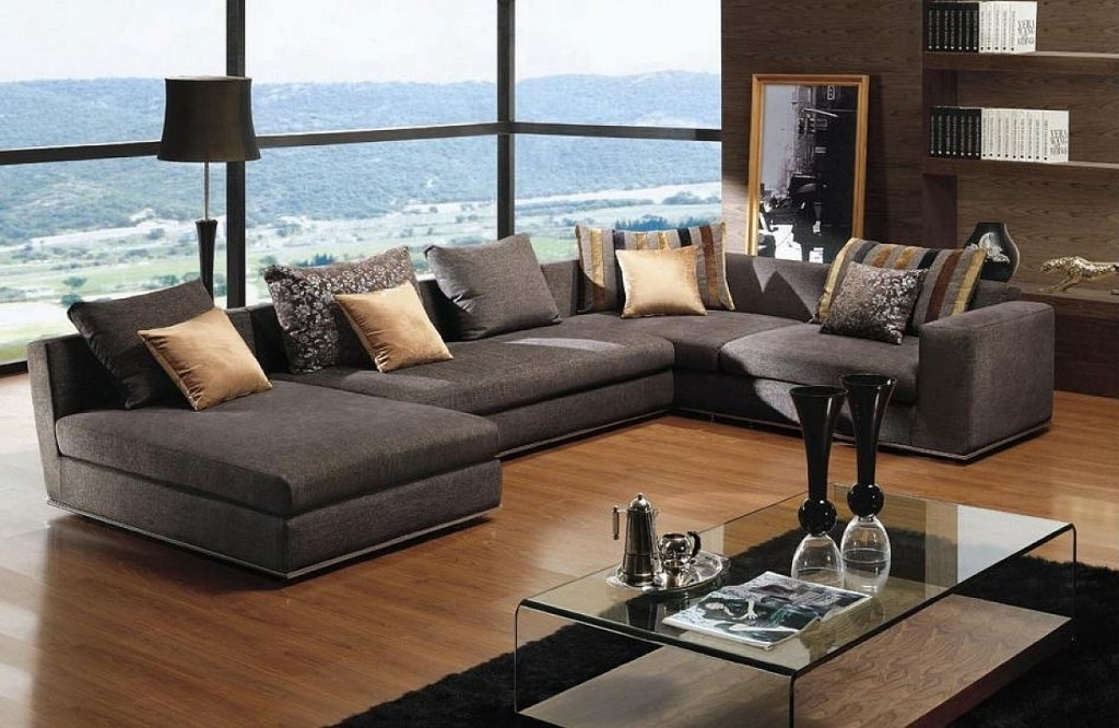 Furniture : U Shape Sectional Sofas For Small Spaces With Gray Color Within Living Spaces Sectional Sofas (Image 5 of 10)