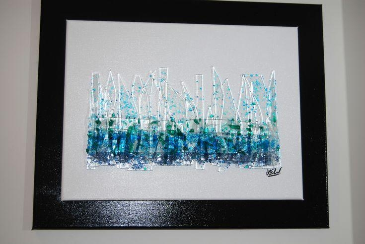 Fused Glass Panel: Abstract (Water)Leigh Ellen Williams Intended For Abstract Fused Glass Wall Art (Image 10 of 20)