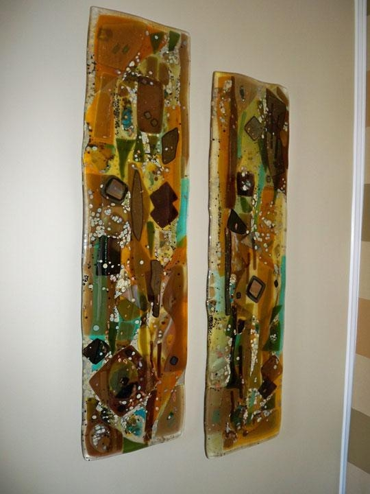Fused Glass Wall Art Panels | Designer Glass Mosaics Regarding Abstract Fused Glass Wall Art (Image 11 of 20)