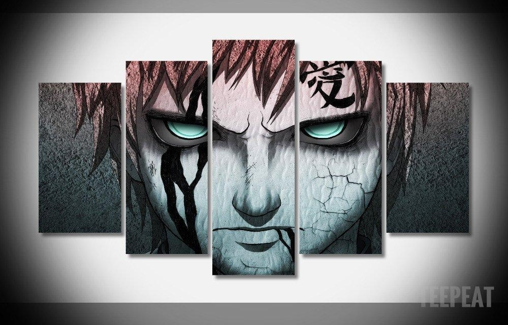 Gaara – 5 Piece Canvas Limited Edition – The Nerd Cave – 1 Inside Anime Canvas Wall Art (Photo 11 of 20)
