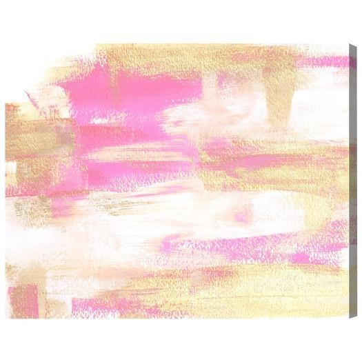 Gal Wild Young Love Painting Print Canvas Intended For Pink Abstract Wall Art (Image 11 of 20)