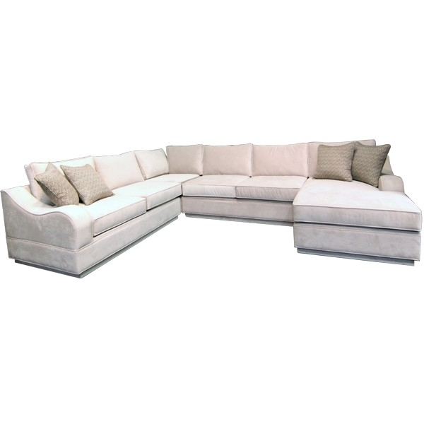 Gallery Furniture Custom Contemporary Sand Sectional – Sofa Inside Gallery Furniture Sectional Sofas (Image 4 of 10)
