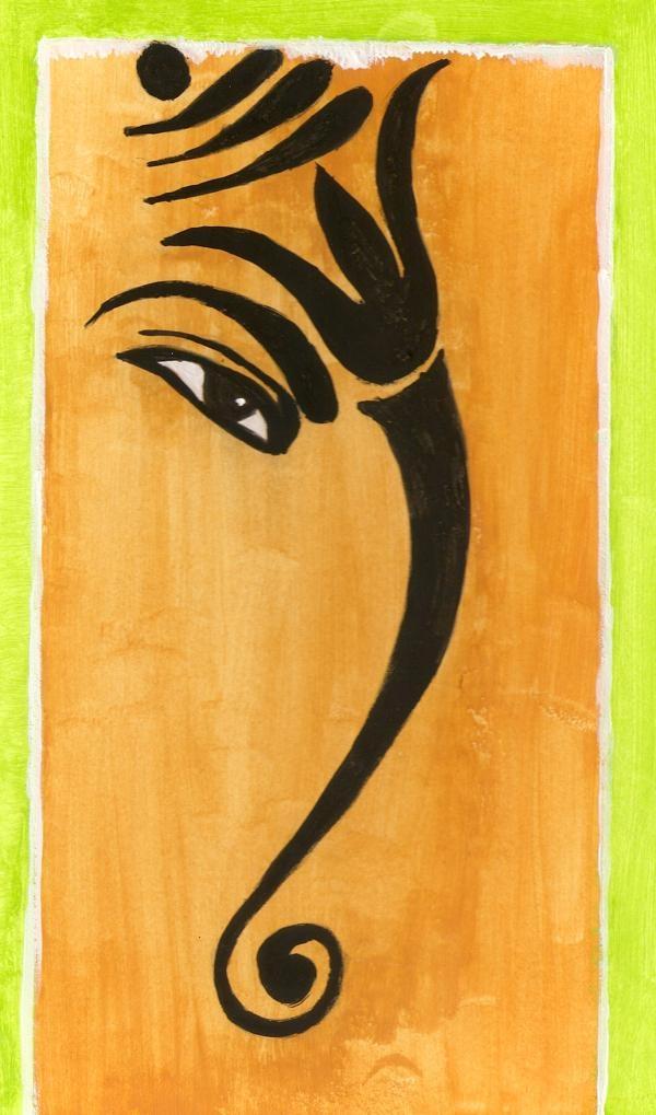 Ganesha Paintings – Google Search | Lord Ganesha | Pinterest Throughout Abstract Ganesha Wall Art (View 20 of 20)