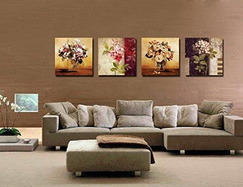 Gardenia – Summer Cool Orange Juice Canvas Prints Modern Wall Art Inside Retro Canvas Wall Art (Image 12 of 20)