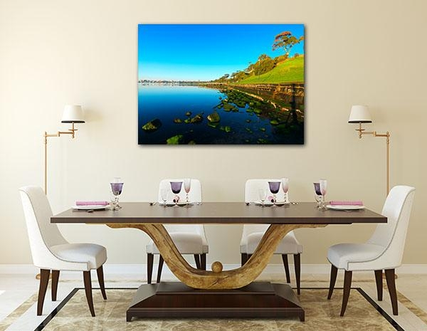 Geelong Coastline Art Print ‰óâ Modern Canvas Themes Throughout Geelong Canvas Wall Art (Image 16 of 20)