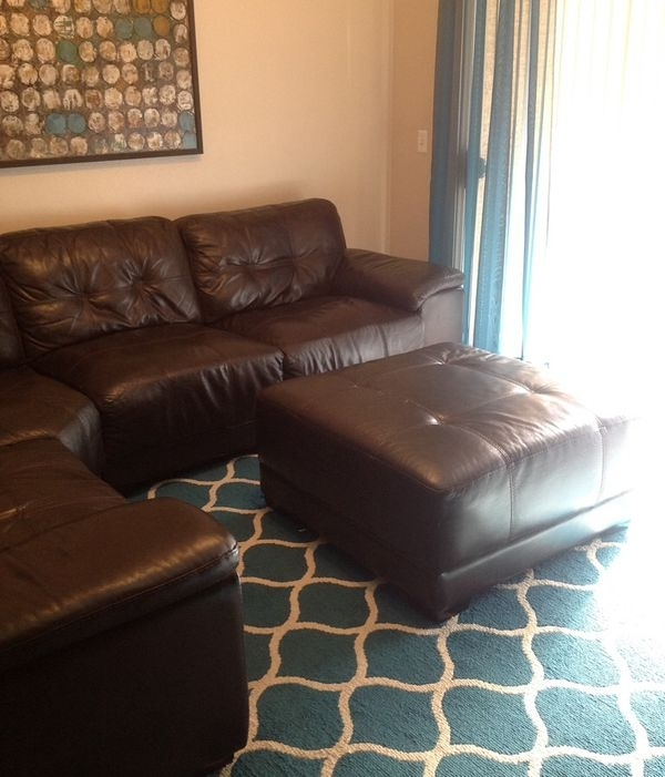 Genuine Leather Sectional Sofa $500 (Furniture) In Gilbert, Az Intended For Gilbert Az Sectional Sofas (Image 4 of 10)