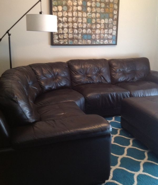 Genuine Leather Sectional Sofa $500 (Furniture) In Gilbert, Az Intended For Gilbert Az Sectional Sofas (Image 3 of 10)
