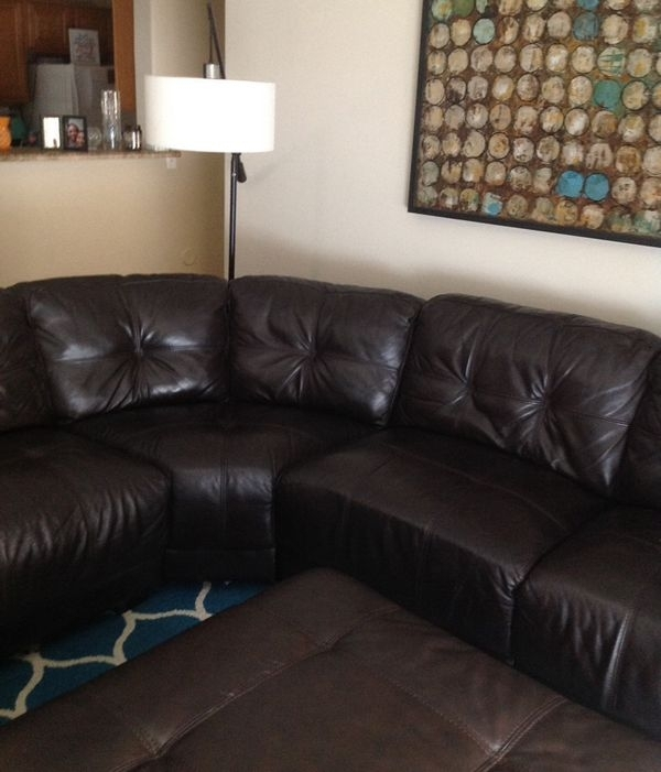 Genuine Leather Sectional Sofa $500 (Furniture) In Gilbert, Az With Gilbert Az Sectional Sofas (Image 5 of 10)