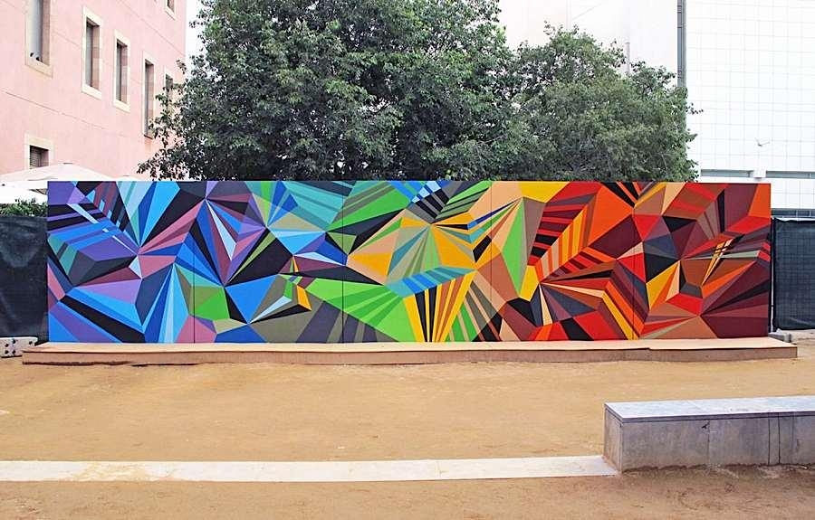 Geometric Graffiti Murals Throughout Abstract Graffiti Wall Art (Photo 8 of 20)