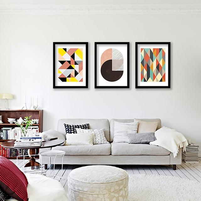 Geometric Patterns Wall Art Canvas Print , Colorful Wall Painting Pertaining To Abstract Office Wall Art (Photo 5 of 20)