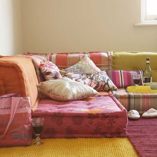 Get The Look: Bohemian Floor Cushions | Finding Euphoria Blog Within Floor Cushion Sofas (Photo 2 of 10)