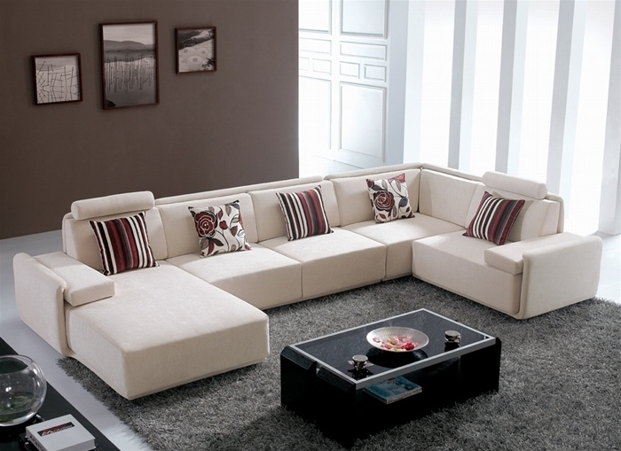 Gino Contemporary Microfiber Sectional Sofa – S3Net – Sectional For Modern Microfiber Sectional Sofas (Image 7 of 10)