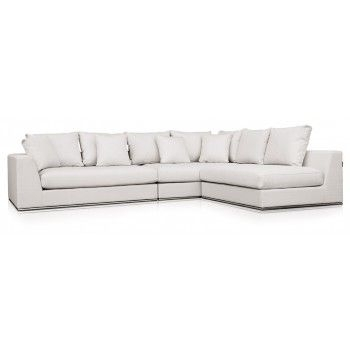 Giovani Fabric Contemporary Sofa Cream | Modani – Sofas | Pinterest With Joss And Main Sectional Sofas (Image 7 of 10)