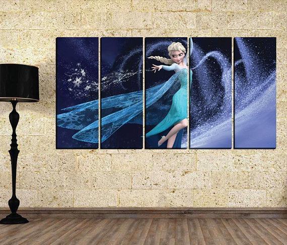Girl Canvas Wall Art Elsa Canvas Wall Art Disney Canvas With Elsa Canvas Wall Art (Image 18 of 20)