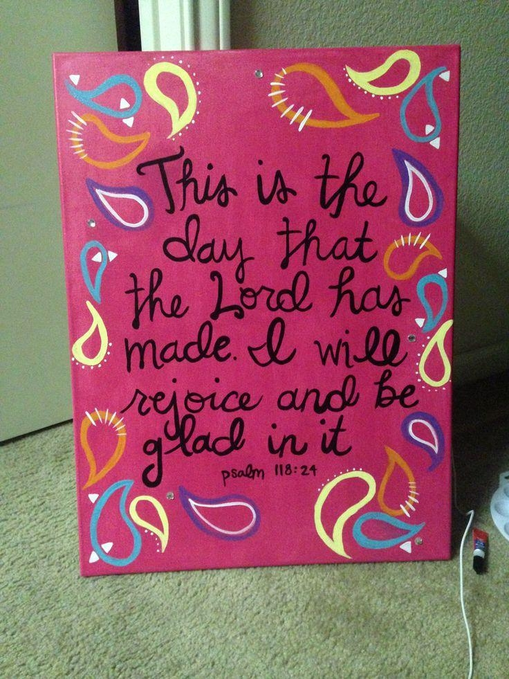 Girly Canvas Paintings | Pink Wall Art College Dorm | Cute Dorm With Canvas Wall Art For Dorm Rooms (Photo 19 of 20)