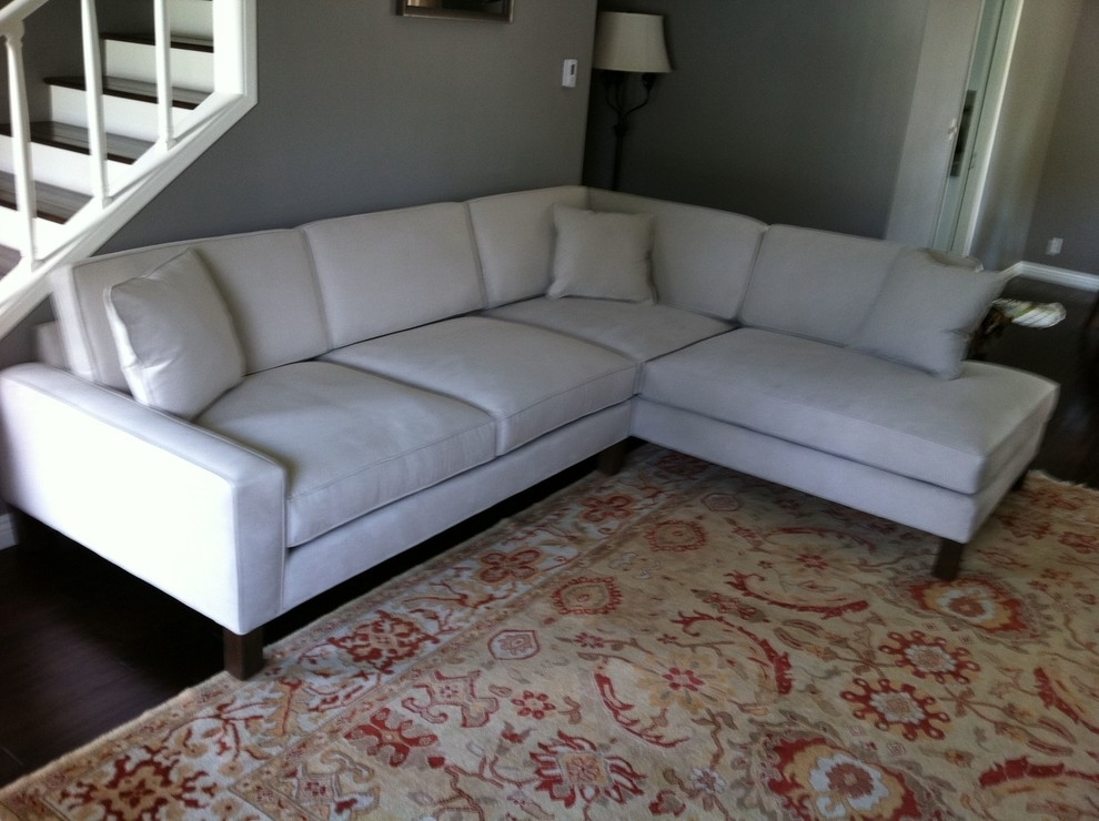 Glamorous Microfiber Sectional In Family Room Los Angeles With In Los Angeles Sectional Sofas (Photo 2 of 10)