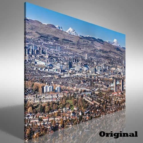 Glasgow City Skyline Canvas Print Large Picture Wall Art | Ebay Throughout Glasgow Canvas Wall Art (Image 9 of 20)