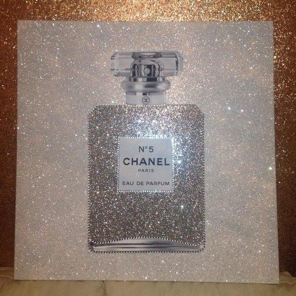 "Glitter Walls Uk On Twitter: ""#stunning #chanelno5 #cocochanel Intended For Glitter Canvas Wall Art (Image 11 of 20)"