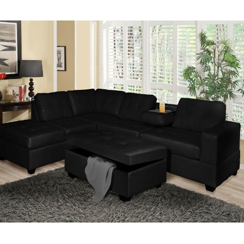 Going Sophisticated With Black Sectional Sofas – Elites Home Decor For Black Sectional Sofas (Image 5 of 10)