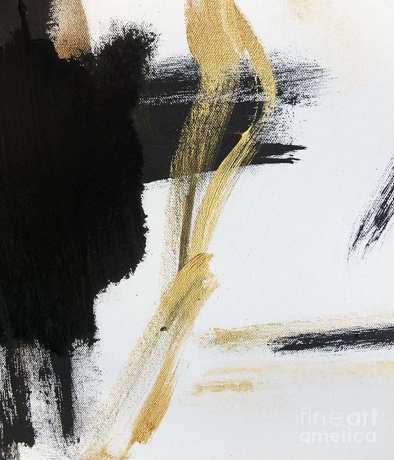 Gold Black And White Modern Abstract Paintingwall Art And Home Regarding Modern Abstract Wall Art (View 18 of 20)