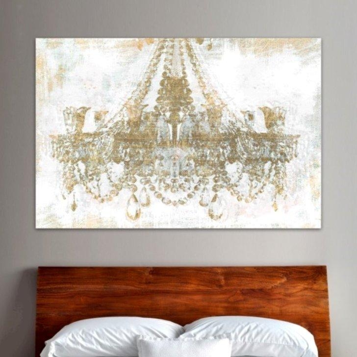 Gold Diamonds Faded Chandelier' Graphic Art Print On Wrapped For Chandelier Canvas Wall Art (Image 9 of 20)