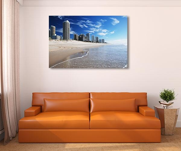 Goldcoast Beach Canvas Art Print ‰óâ Kitchen Prints On Canvas With Gold Coast Canvas Wall Art (View 11 of 20)