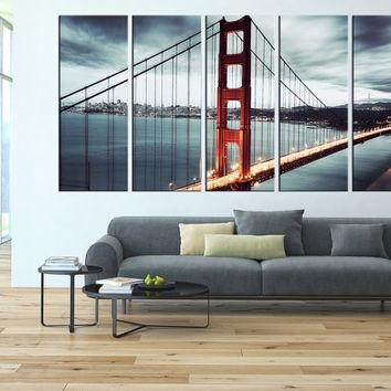 Golden Gate Bridge Canvas Wall Art, San From Artcanvasshop On With Regard To Golden Gate Bridge Canvas Wall Art (Image 13 of 20)