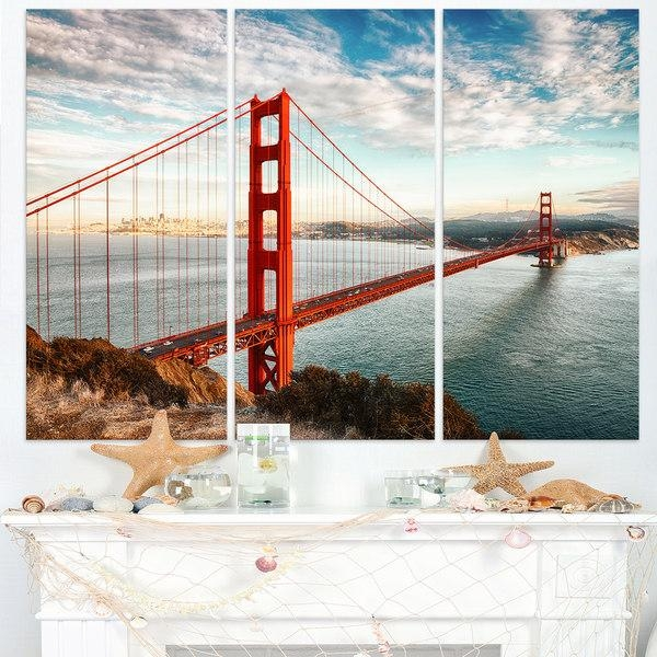 Golden Gate Bridge In San Francisco – Sea Bridge Canvas Wall Within Golden Gate Bridge Canvas Wall Art (Image 15 of 20)