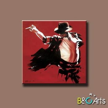 Good Quality Modern Stretched Printing Canvas Wall Art Of Michael Pertaining To Michael Jackson Canvas Wall Art (View 5 of 20)