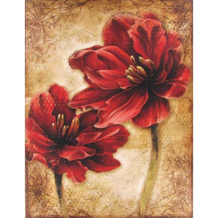 Gorgeous 80+ Red Canvas Wall Art Inspiration Design Of Wall Art Within Red Flowers Canvas Wall Art (Image 7 of 20)