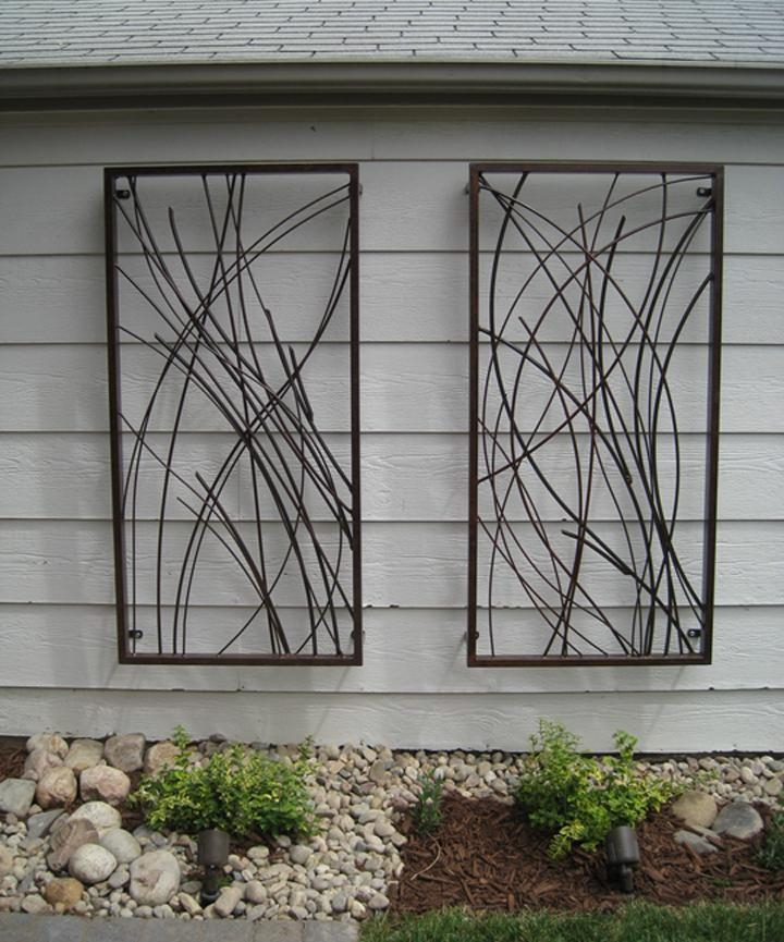 Gorgeous Outdoor Wall Art Derived From Sustainable Materials With Abstract Outdoor Metal Wall Art (Image 4 of 20)