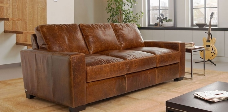 Gorgeous Tan Leather Sofa Vintage Antique Style Tan Leather Sofa Tan Within Light Tan Leather Sofas (Image 3 of 10)