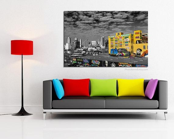 Graffiti Art Canvas/street Art/large Wall Art/large Canvas Intended For Black And White Photography Canvas Wall Art (Photo 4 of 20)