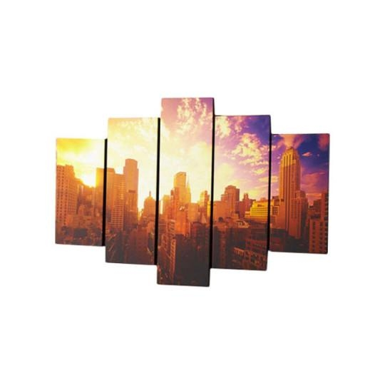 Graham & Brown 5 Piece Good Morning New York Photographic Print On Intended For Canvas Wall Art At Wayfair (Image 9 of 20)